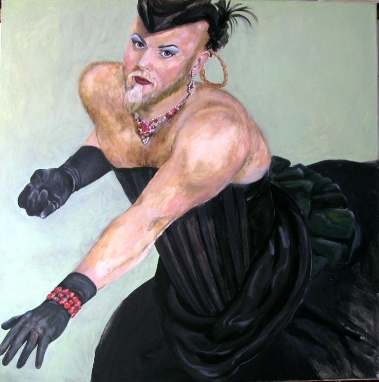 Prinzessin Hans, 2008, 100 x 100, Öl/Leinwand
